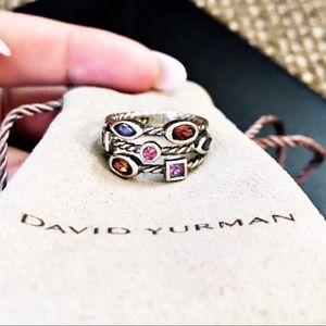 Authentic David Yurman Silver Confetti Rope Ring